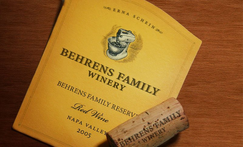 Behrens Family Winery Label Design
