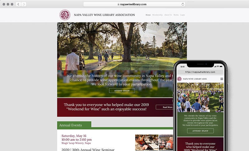 NVWLA website design & development